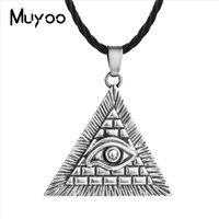 neue einzigartige anhänger großhandel-2019 neuankömmling slawischen halskette alten ägyptischen pyramide einzigartiges design demon eye anhänger slawischen amulett halskette männer