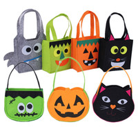 Wholesale new bat bags resale online - New Party Supplies Halloween bags costume bag handbag candy bag spider bat cat bag Halloween pumpkin bags