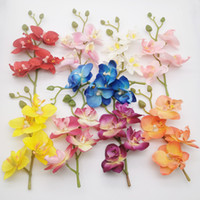 ingrosso fiori di fine-High-End fiore artificiale farfalla testa Orchid Bouquet nuovo DIY Cerimonia di nozze Wedding Cake Decoration Flowers