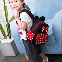 Wholesale boy teen backpacks for sale - Group buy 2019 New mouse Backpack Female Mini Bag Women s Backpack Sweet Bow Teen Girls Backpacks Schoolbags Lady Bag Shoulder bag C31
