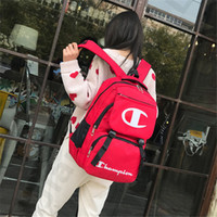 hazır çanta markaları toptan satış-Şampiyonlar Marka Sırt Çantası Tasarımcı Omuzlar Çanta Tiki Tarzı Büyük Kapasiteli Okul, Unisex Kadın Erkek Seyahat Plaj Duffle Çanta Kılıf C3192