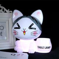 Wholesale animal piggy banks for sale - Group buy BRELONG led creative cat piggy bank table lamp student dormitory children s night light usb charging folding lamp