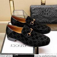 zapatos de cuero marrón para hombres al por mayor-G Diseñador Ace Negro vestido de gamuza marrón de cuero ocasionales de los holgazanes de los hombres deslizan en los zapatos Oxford puntiagudas