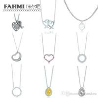 Wholesale 925 sun necklace for sale - Group buy FAHMI Charm Sterling Silver Love Twinkle Teardrop Inlay Zircon Sun Necklace Original Women s Fashion Jewelry Memorial Day TIF