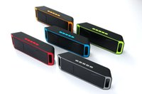 usb power subwoofer großhandel-NEUE SC208 Mini Tragbare Bluetooth-Lautsprecher Drahtlose Laut Musik Player Große Power Subwoofer Unterstützung TF USB FM Radio DHL versand
