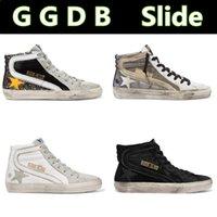 ingrosso stivali in pelle italia-Italia Deluxe MarcaGGDB diapositive d'Oro Superstar Goose High Top in pelle scarpe da tennis uomini e le donne GGDD GDB Do-vecchi Sport scarpe sporche Stivali
