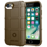 Wholesale iphone tactical resale online - 360 Degree Full Body Protection Phone Case for Iphone Soft TPU Thick Solid Armor Tactical Protective Case