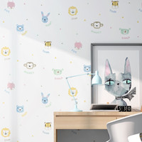 Wholesale wallpapers for free resale online - Home wall decoration children s room wallpaper boy girl princess cartoon animal cute bedroom environmentally friendly formaldehyde free back