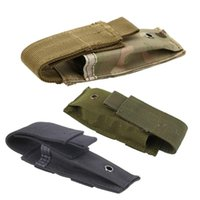 magazintasche tasche großhandel-Molle Pouch Tactical Single Pistol Magazintasche Messerscheide Jagdmunition Camo Bags