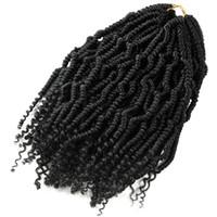 kanekalon tresses afro crépus achat en gros de-Bomb Twist Crochet Tresses Synthétique Extension de Cheveux Ombre Printemps Twist Kinky Bouclés Kanekalon Pour Les Femmes Afro