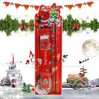 gomas de borrar de navidad al por mayor-Navidad Set de escritorio del borrador de lápiz de combinación 24x7cm escuela primaria Recuerdos