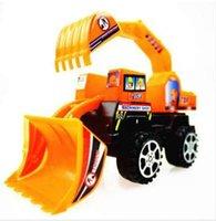 erkek çocuk oyuncakları kamyonlar toptan satış-Mühendislik Araç Traktör Oyuncak Kamyon Araba Modeli Buldozer Snow Clearer Forklift Yol Silindiri Araba Set Hediye Erkek Çocuk