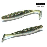 Wholesale sea worm lures for sale - Group buy 10pcs Fishing Lures Soft Lure cm g Pesca Leurre Souple Carp Fishing Sea For Trolling Crankbait Jig Worm Hooks Bait