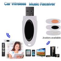 receptor estéreo de computador venda por atacado-USB Blueteeth Música Receptor de Música Estéreo de Áudio Sem Fio Receptor Adaptador Para Casa Do Carro Orador Do Computador Speaker Sem Fio Do Mouse