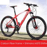 ingrosso moto 18 pollici-Nuovo marchio in fibra di carbonio 27 velocità 26 pollici M370 freno a disco idraulico Mountain Bike Outdoor Downhill Bicycle Mtb Bicicletas