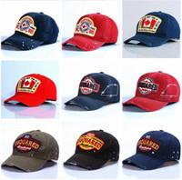 Wholesale caps resale online - D2 ICON Hip Hop Baseball cap Snapback Hats colors Brand designer cotton Hat for Men Women Casquette hats Letter Embroidery Gorras