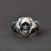Wholesale stainless steel wolf rings for sale - Group buy Norse Mythology Odin Raven Silver Rings Mens Viking Wolf L Stainless Steel Ring Scandinavian Amulet Jewelry