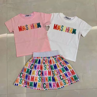 Wholesale cute baby clothing for girls for sale - Group buy kid clothe summer shirt dress for baby girl dress cotton fashion designer korean kid clothe sets cm