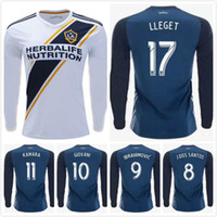 Wholesale long sleeve ibrahimovic jersey for sale - Group buy Long sleeve Los Angeles Galaxy Soccer Jersey IBRAHIMOVIC MLS LA Galaxy GIOVANI DOS SANTOS KAMARA Football Shirt Thai quality