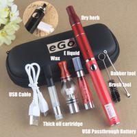 Wholesale evod starter kit dry herb vape resale online - UGO V II in Battery Starter Kit in1 Multiple Vaporizer Vape Pen EVOD Battery mah EGO CE4 Dry Herb WAX Cartridge