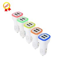 Wholesale android best cell phones for sale – best Best sellers V A Dual USB Ports Led Light Car Charger Adapter Universal Charing Adapter for Cell phone android phone
