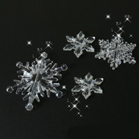 Wholesale candle beads resale online - 10PCS Pack Christmas Decorations for Home Snowflake Ornaments Crystal Acrylic DIY Bead Curtain Decorative Craft Home Decor Party