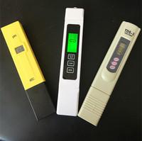 ppm tds metro al por mayor-3 unidades / lote TDS EC 0-5000 ppm Probador, PH ATC / TDS calibrar al mantener TEMP botton medidor, lápiz digital, monitorear la calidad del agua para