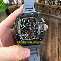 часы лотос оптовых-RM50-01 LOTUS F1 TEAM ROMAIN GROSJEAN Турбийон Циферблат Автоматический запас хода 50-01 Мужские спортивные часы Светящийся корпус из углеродного волокна Резиновый ремешок