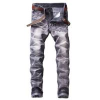 ingrosso abiti di media lunghezza neri-New Black Jeans Uomo Fashion Dress Moda coreana di marca Slim Jeans uomo pantaloni full length alta qualità Jeans stretch casual Abbigliamento uomo