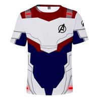 ingrosso costumi cosplay per uomini corti-Maglietta per bambini finale battaglia Cosplay Costume manica corta Top per bambini Avengers 4 Endgame Quantum 3D stampa donne / uomini magliette