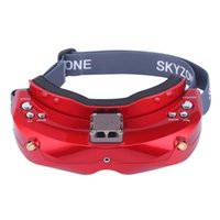 hdmi 2d 3d оптовых-Skyzone SKY02X 5.8G 48CH Диверситивные FPV Goggles Встроенный вентилятор DVR Поддержка 2D / 3D HDMI IN Для Расинг Drone - Красный