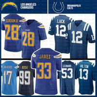 671d709cc 33 Derwin James Melvin Gordon Los Angeles Jersey Charger 17 Philip Rivers  99 Joey Bosa Indianapolis 12 Colts Andrew Luck 13 Hilton Leonard