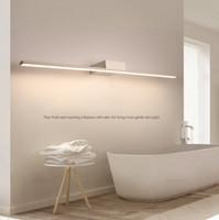 ingrosso abito nero nero-Nuovo arrivo caldo nero / bianco 400/600/800/1000 / 1200mm Ha portato le luci specchio del bagno Moderno trucco spogliatoio bagno lampada a specchio a led