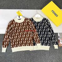 algodão cashmere roupas venda por atacado-Crianças camisolas crianças roupas de grife outono meninos e meninas moda camisola pullover cashmere lã coberto carta sweaternew