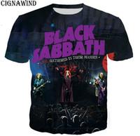 ingrosso nastri di spandex neri-New Popular Black Sabbath Vintage Rock Band T-Shirt Uomo Donna 3D Stampato Moda Harajuku Stile T Shirt Streetwear Estate Top A07