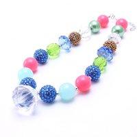 Wholesale pendants for kids chunky bead necklaces for sale - Group buy Fashion Water Drop Pendant Chunky Beads Necklace For Child Kids Girls Chunky Bubblegum Necklace For Baby Jewelry