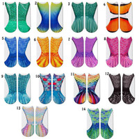 Wholesale stockings online - 3D Animal Mermaid Socks Cosplay Fish scale Printed Socks For Children adult Home Warm Stocking Styles MMA1521