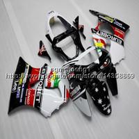 ingrosso kawasaki zx6r 1998 carena bianca-23colors + regali cofano moto nero bianco rosso per Kawasaki ZX-6R 1998-1999 98 99 ZX6R 1998 1999 98-99 plastica ABS carenato