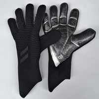 Wholesale football keepers gloves resale online - Professional Kids Mens Goalkeeper Gloves Thick Latex Football Without Finger Protection Keeper Gloves Goalie Training Gloves