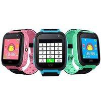 bebek kamera android toptan satış-Çocuk Akıllı İzle Q9 Akıllı Bilezik Uzaktan İzle ile Bebek Izle LBS SOS Emniyet Saatler Perakende Kutusu ile SIM Kart Yuvası