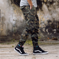 Wholesale Hot Sale Men Pants Fashion Camouflage Jogging Pants Womens Zipper Overalls Beam Foot Trousers Irregular Joggers Pants