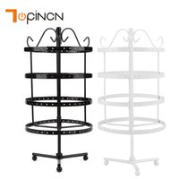 Wholesale earring rotating for sale - Group buy 4 Tiers Pairs Detachable Rotating Jewelry Organizer Storage Rack Earring and Necklace Display
