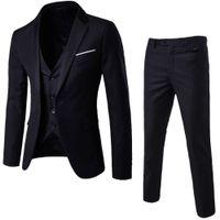 Wholesale purple jackets for weddings for sale - Group buy Luxury Men Wedding Suit Male Blazers Slim Fit Suits For Men Piece Suit Blazer Business Wedding Party Jacket Vest Pants