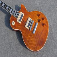 özel elektrik gitarı eğik çizgi toptan satış-Özel mağaza Slash İmza Chibson Elektro gitar, yüksek kaliteli katı maun gitar, gerçek fotoğraflar Ücretsiz kargo