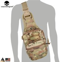 Wholesale bag tactical cordura online - Emersongear Tactical EDC Cordura Bag Military Sport Rover Sling Bag Chest for Camping Hiking Trekking EM8340