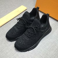 Wholesale men office leather shoes resale online - designer Vnr Runner sneaker luxury Trainer Dress shoes loafers with orange box dust bag knit Runner Man Shoes Outdoors