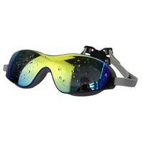 ingrosso colorati grandi vetri-2019 New Swim Eyewear Colorful Swim Big Glasses Anti-Fog Protezione UV Unisex Occhialini da nuoto 3 colori