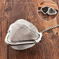 Wholesale home accessories online - Heart Stainless Steel Tea Infuser shaped Strainers Filter mesh Tea Ball tea bag Creative home Accessories tools FFA1618