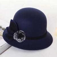 chapéu de abas largas de palha preta venda por atacado-Black Friday Deals 2018 Fashionable Ladies fascinador elegante Mulheres Bowler chapéus de palha Panamá Hat Visor Sombra largas Caps Brim