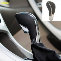 Wholesale transmission gear shift lever for sale - Group buy New Black Chrome PU Leather Automatic Transmission Gear Shift Shifter Lever Knob For Vauxhall Insignia Regal